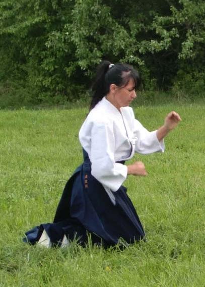 Maryse Linert bei Suwari-Waza-Technik